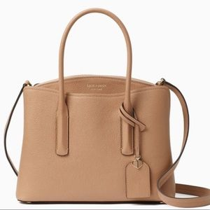 Kate Spade Margaux Large Satchel Light Fawn